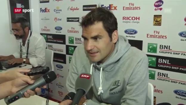 Video «Interview mit Roger Federer («sportaktuell»)» abspielen