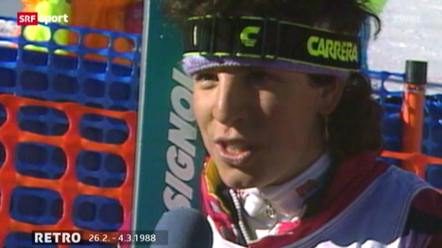 Calgary 1988: Vreni Schneider holt olympisches Gold