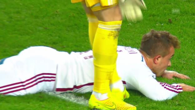 Video «Fussball: CL, ZSKA-Bayern, Chance Shaqiri» abspielen