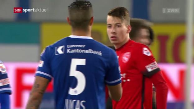 Video «Kein Sieger bei Luzern gegen Thun» abspielen