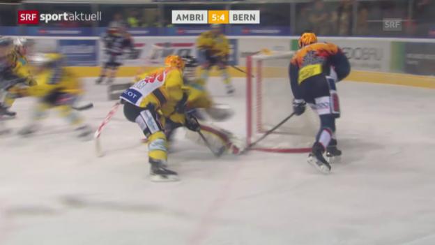 Video «Eishockey: NLA 40. Runde Ambri-Piotta - Bern» abspielen