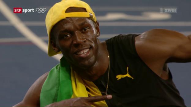 Video «Bolt über 100 m wieder nicht zu schlagen» abspielen