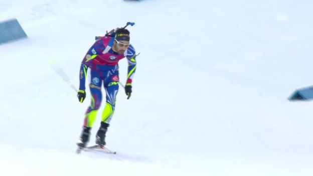 Video «Biathlon: Zieleinlauf Martin Fourcade» abspielen