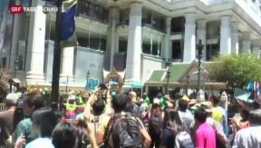 Video «Erste Spur nach Bombenanschlag in Thailand» abspielen
