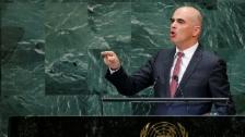 Link öffnet eine Lightbox. Video Klare Worte in der UNO-Debatte abspielen