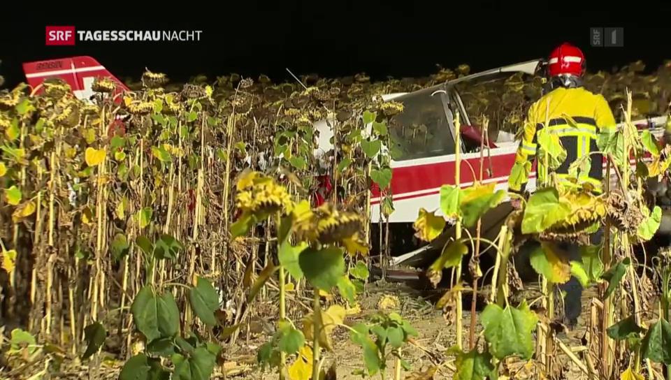 Kleinflugzeug bei Schaffhausen abgestürzt