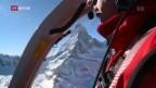 Video «Viele Helikopter-Flüge wegen verletzten Wintersportlern» abspielen