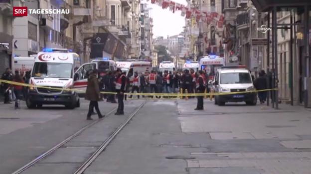 Video «Selbstmordanschlag in Istanbul» abspielen