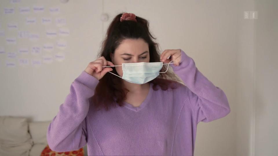«Eine benutze Maske ist potenziell mit Viren kontaminiert. Sie sollte also beim Abziehen möglichst nicht in der Mitte angefasst und gleich entsorgt werden.»