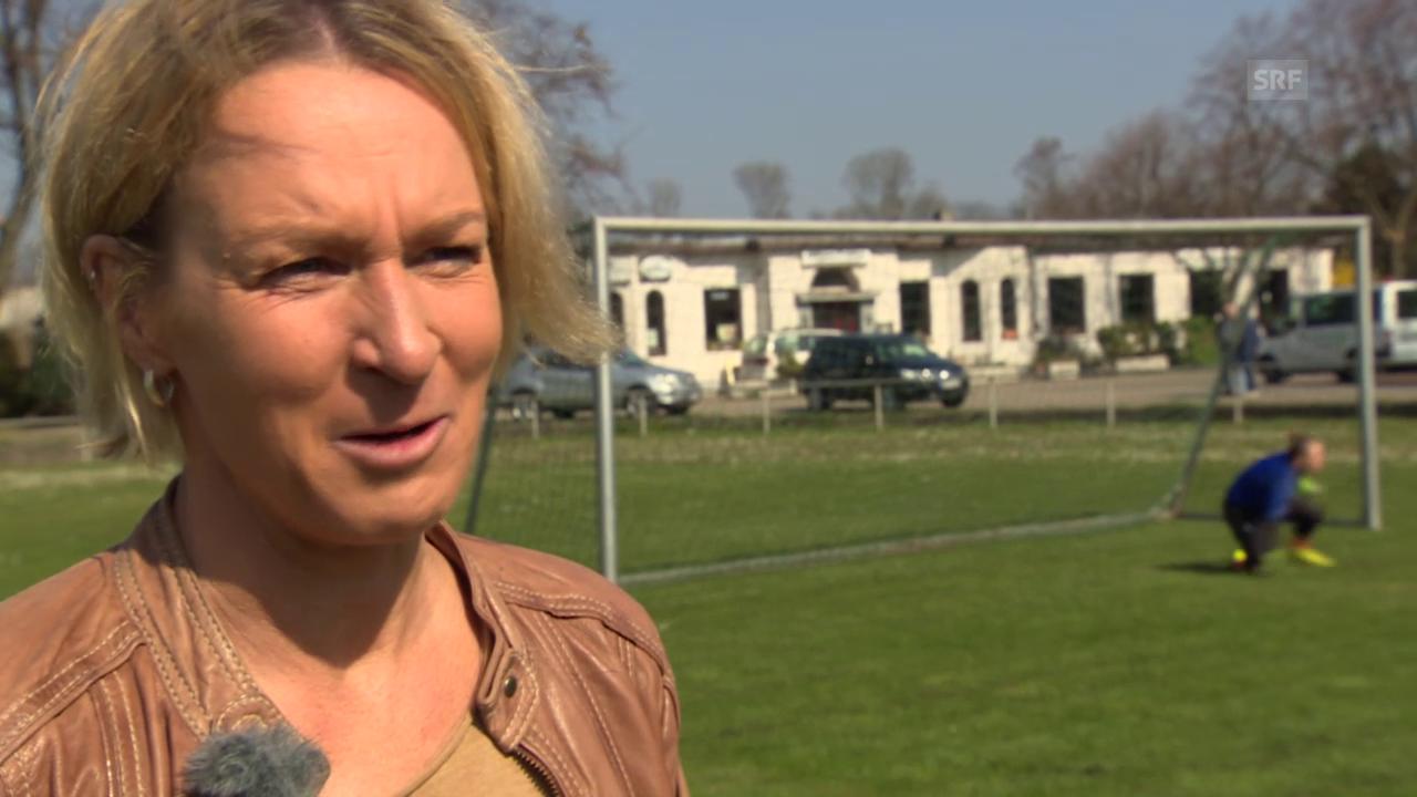 Fussball: Frauen-Nat, Interview Voss-Tecklenburg