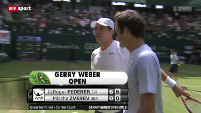 Tennis: Federer in Halle im Halbfinal