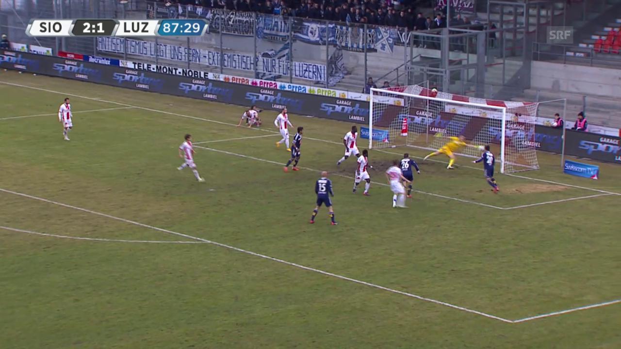 Fussball: SL, Sion - Luzern, Alle Tore