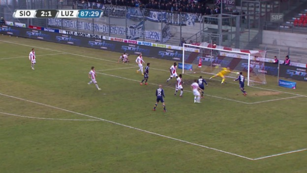 Video «Fussball: SL, Sion - Luzern, Alle Tore» abspielen