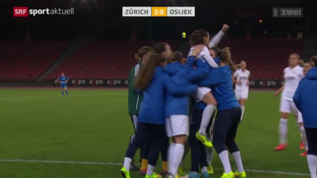 Video «Fussball: Champions League Frauen, FC Zürich - Osijek» abspielen