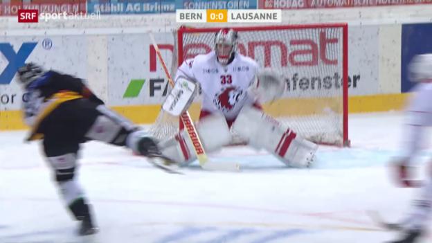 Video «Eishockey: Bern-Lausanne» abspielen
