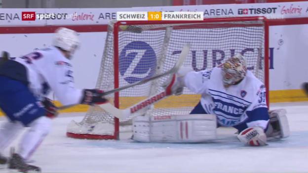 Video «Schweizer schlagen Frankreich nur knapp» abspielen