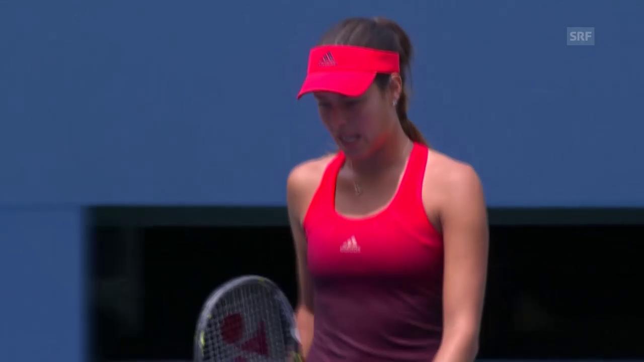 Tennis: US Open, Ivanovic - Cibulkova: Der Matchball (Quelle: SNTV)