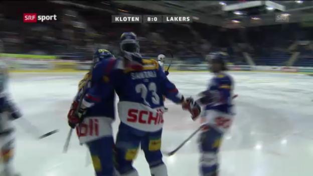 Video «Kloten Flyers - Rapperswil-Jona Lakers («sportaktuell»)» abspielen