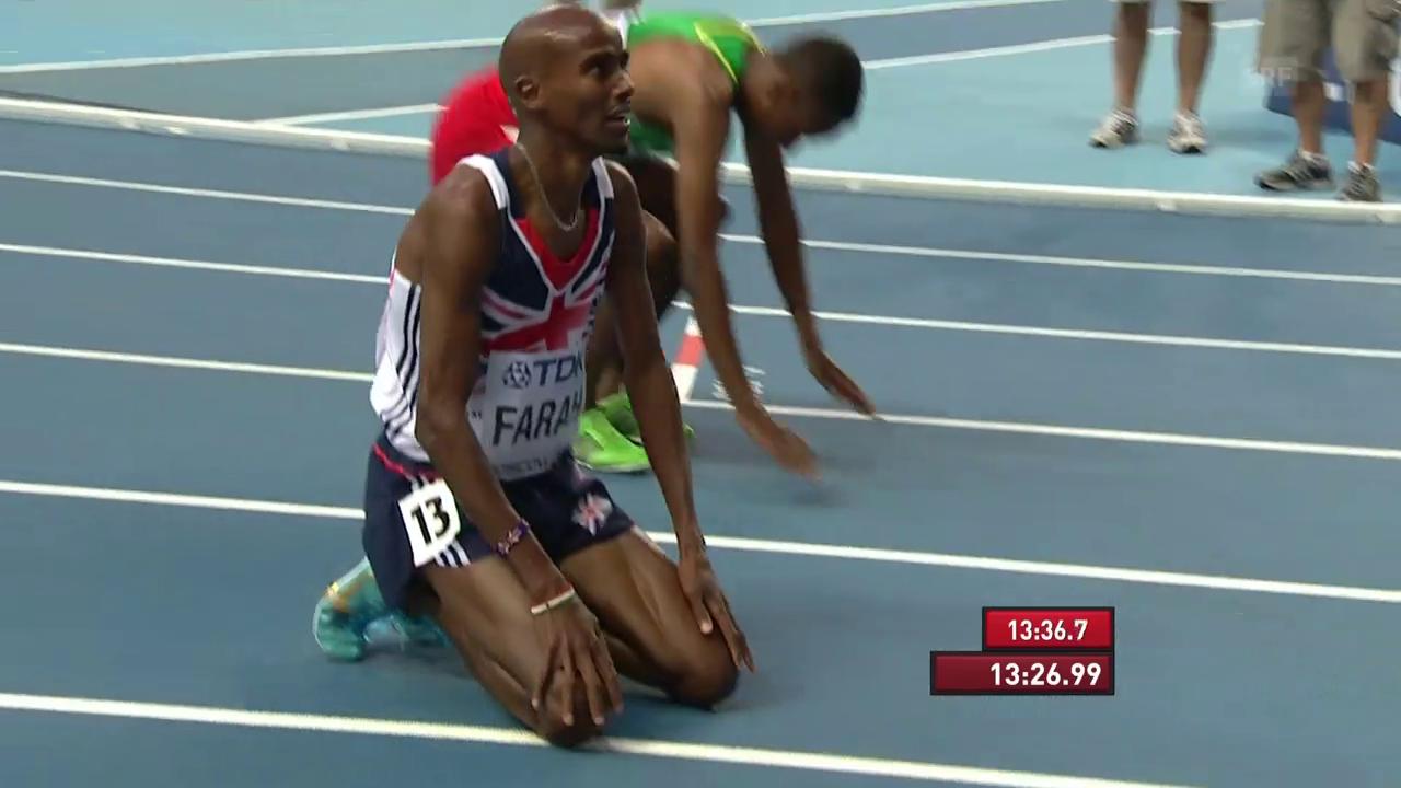 Farahs WM-Gold über 5000 m 2013 in Moskau