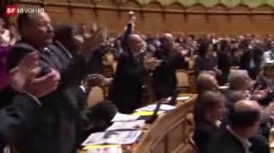 Video «Emotionale Bundesratswahl» abspielen