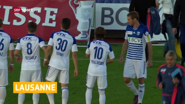 Video «Lausanne steigt in die Super League auf» abspielen