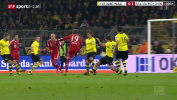 Video «Fussball: Bundesliga, Dortmund - Bayern» abspielen