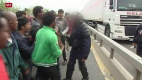 Video «FOKUS: Chaos in Calais» abspielen