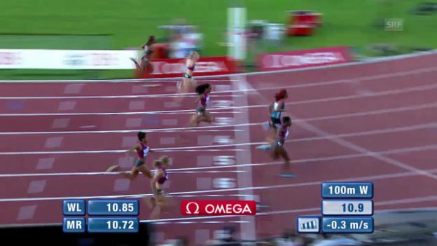 Video «LA: Athletissima, 100 m der Frauen» abspielen