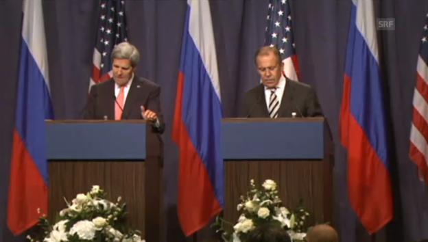Video «John Kerry (l.) und Sergej Lawrow» abspielen