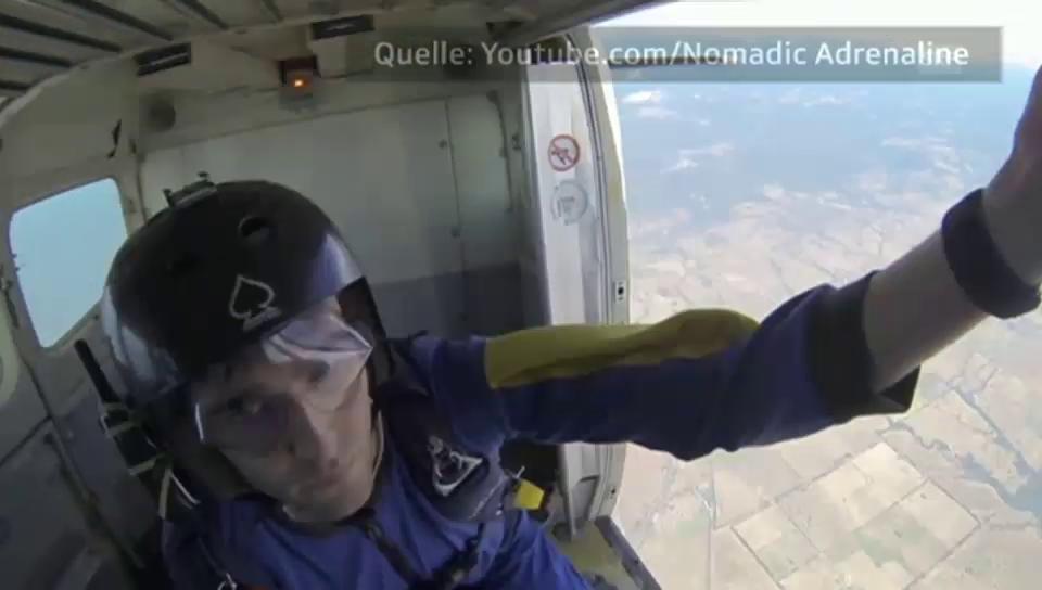 Fallschirmspringer verliert Bewusstsein