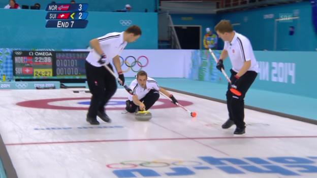 Video «Curling: Zusammenfassung Schweiz - Norwegen (16.02.2014)» abspielen