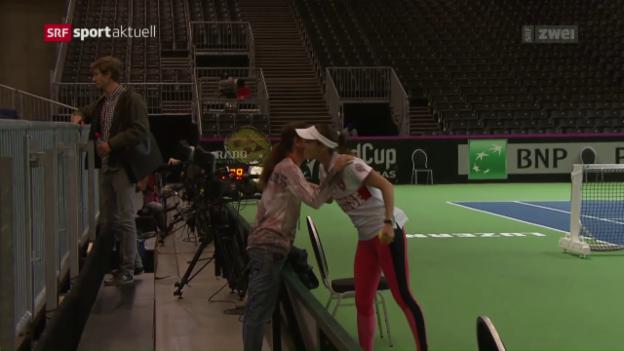 Video «Patty Schnyder erinnert sich an erfolgreiche Fed-Cup-Zeiten» abspielen