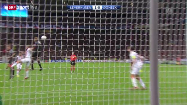 Video «CL: Bayer Leverkusen - Schachtar Donezk» abspielen