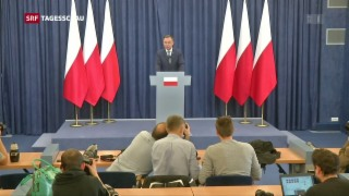 Video «Polens Präsident legt Veto gegen umstrittene Justizreform ein» abspielen