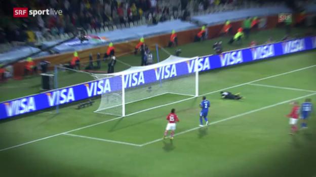Video «Fussball: Rückblick Schweiz - Honduras an der WM 2010 in Südafrika» abspielen