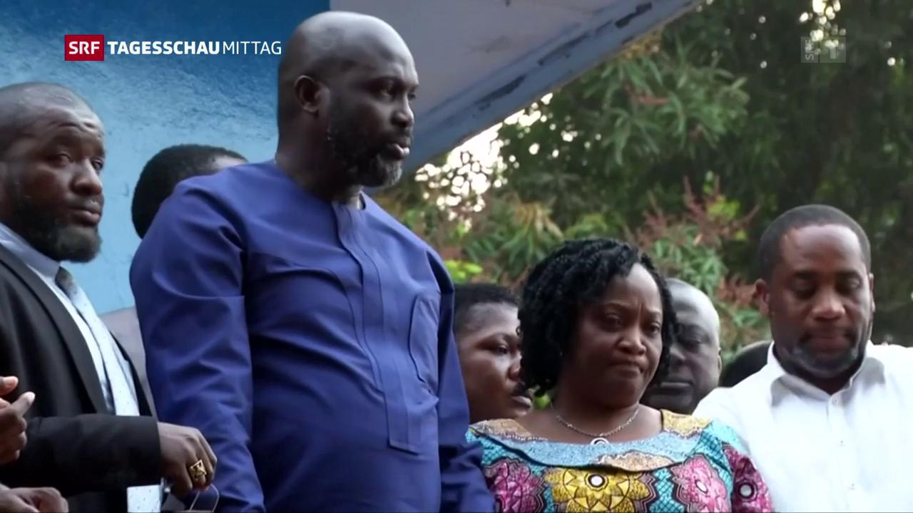 Ein Fussballer wird Präsident in Liberia