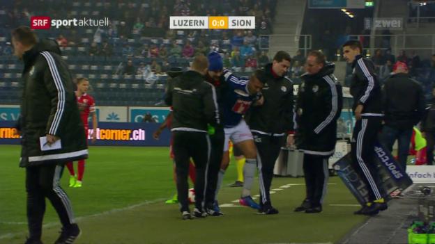 Video «Alves: Chance vergeben und verletzt ausgewechselt» abspielen