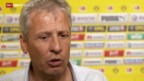 Video «Fussball: Interview mit Lucien Favre» abspielen