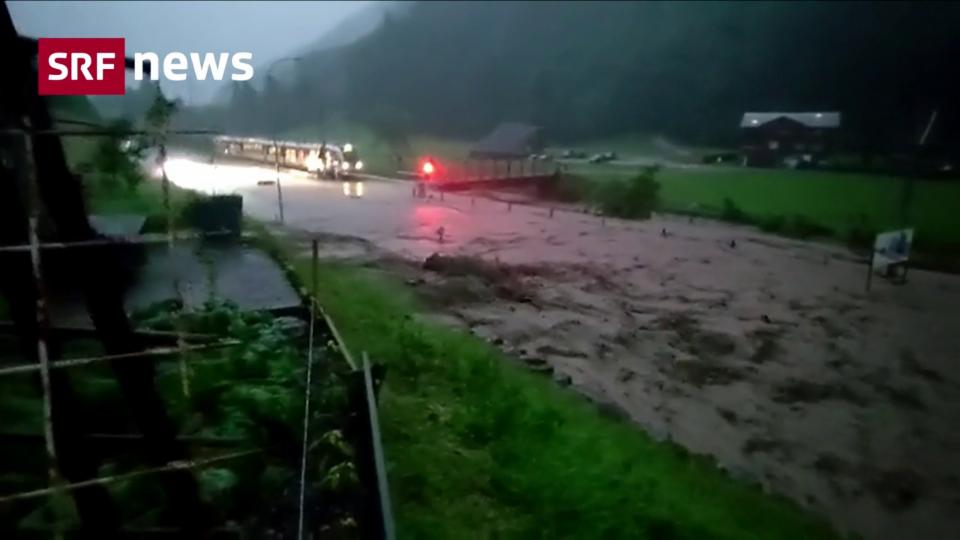 Heftige Unwetter im Kanton Nidwalden