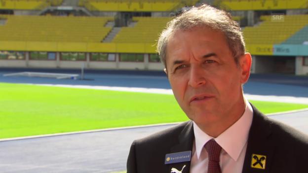 Video «Fussball: Marcel Koller über sein Stammteam» abspielen