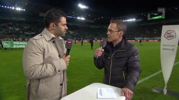 Video «Fussball: Gespräch mit GC-Trainer Uli Forte» abspielen