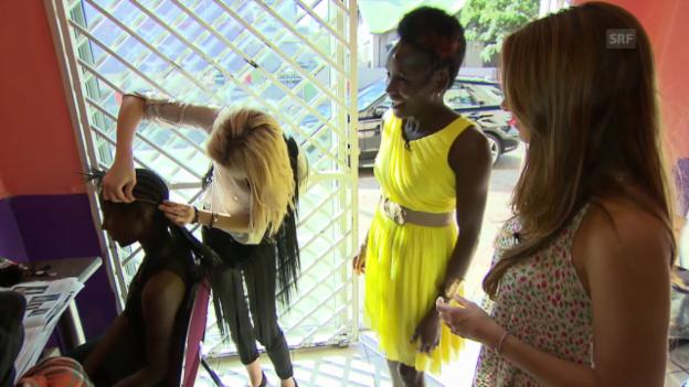 Video ««Jobtausch»: Haare schneiden in Namibia» abspielen