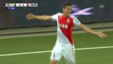 Video «Fussball: Champions League, YB-Monaco, die Treffer von Monaco» abspielen