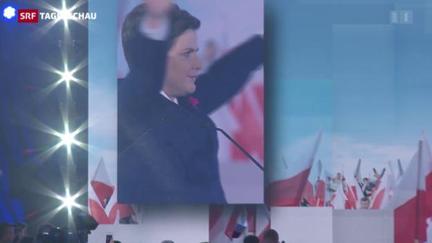 Video «Wahlen in Polen: Duell zwischen zwei Frauen» abspielen