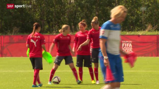 Video «Fussball: Frauen-WM, die Nati am Tag nach der Achtelfinal-Qualifkation» abspielen