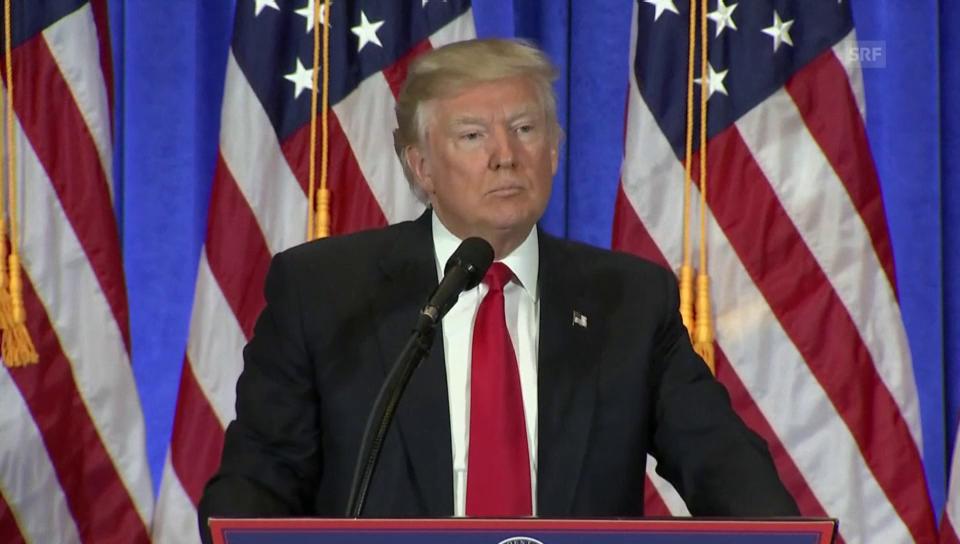 Donald Trump lässt einen CNN-Reporter keine Frage stellen
