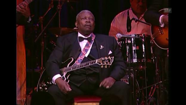 Video «Auftritt von B. B. King (unkom. Ausschnitt)» abspielen
