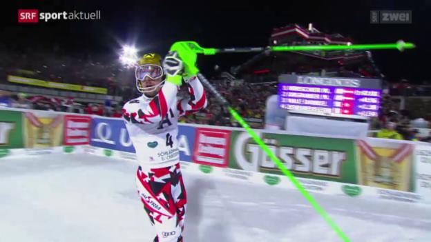 Video «Ski: Nachtslalom der Männer in Schladming» abspielen