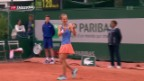 Video «Viktoria Golubic mit Premiere an French Open» abspielen