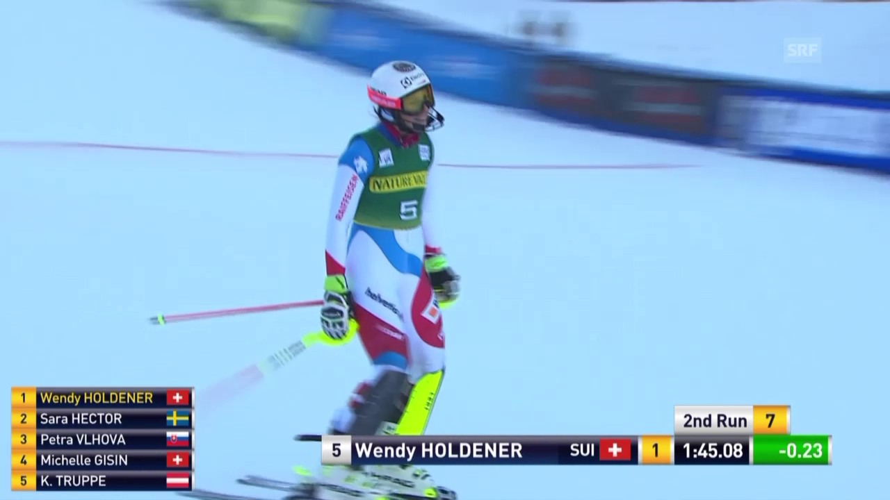 Ski Alpin: 2. Lauf Holdener